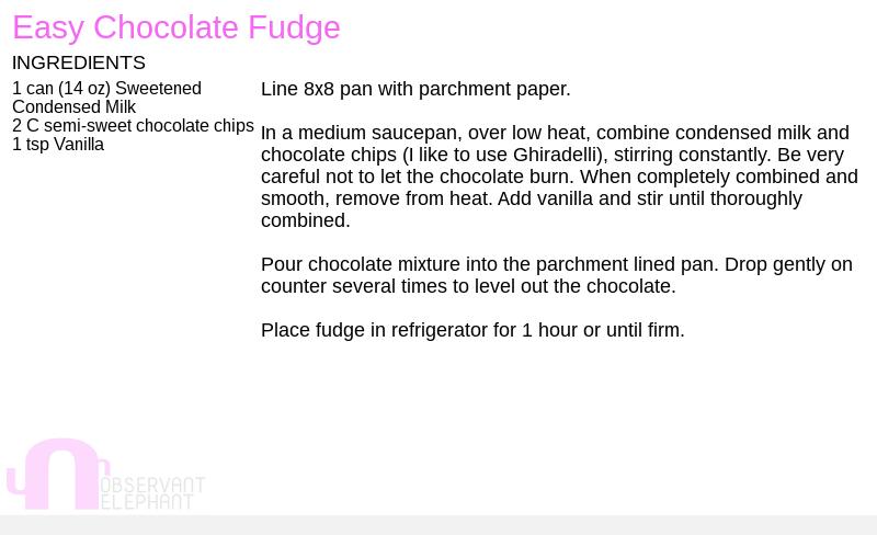 fudge recipe
